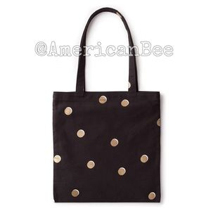 Kate Spade Canvas Book Tote  NEW